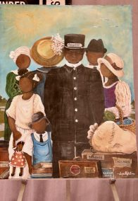 Great Migration by Sonja Evans - depicts the 2019 ASALH Conference theme