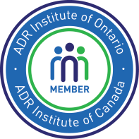 Membership badge for the ADR institutes of Canada and Ontario, which provide mediation and arbitration training to members.