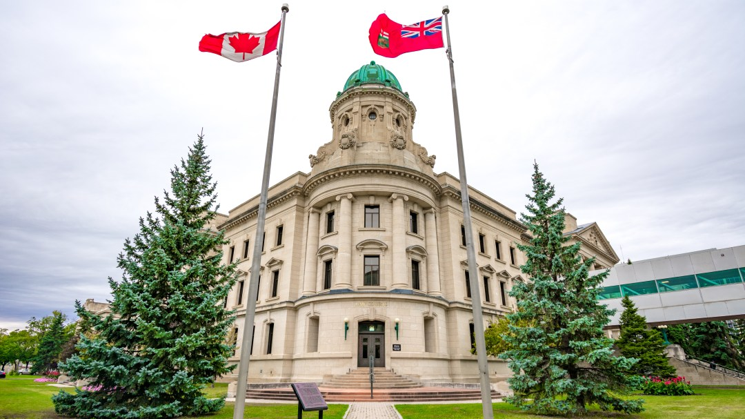 The Winnipeg courthouse in which Justice Joyal disclosed the events that may constitute a contempt of court.