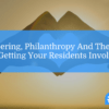 volunteering, philanthropy, and staff and resident involvement
