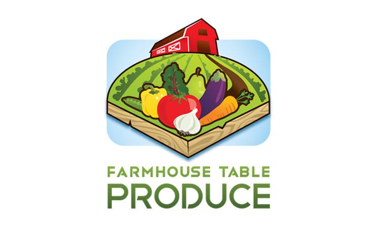 Farmhouse Table Produce Logo Apt Design