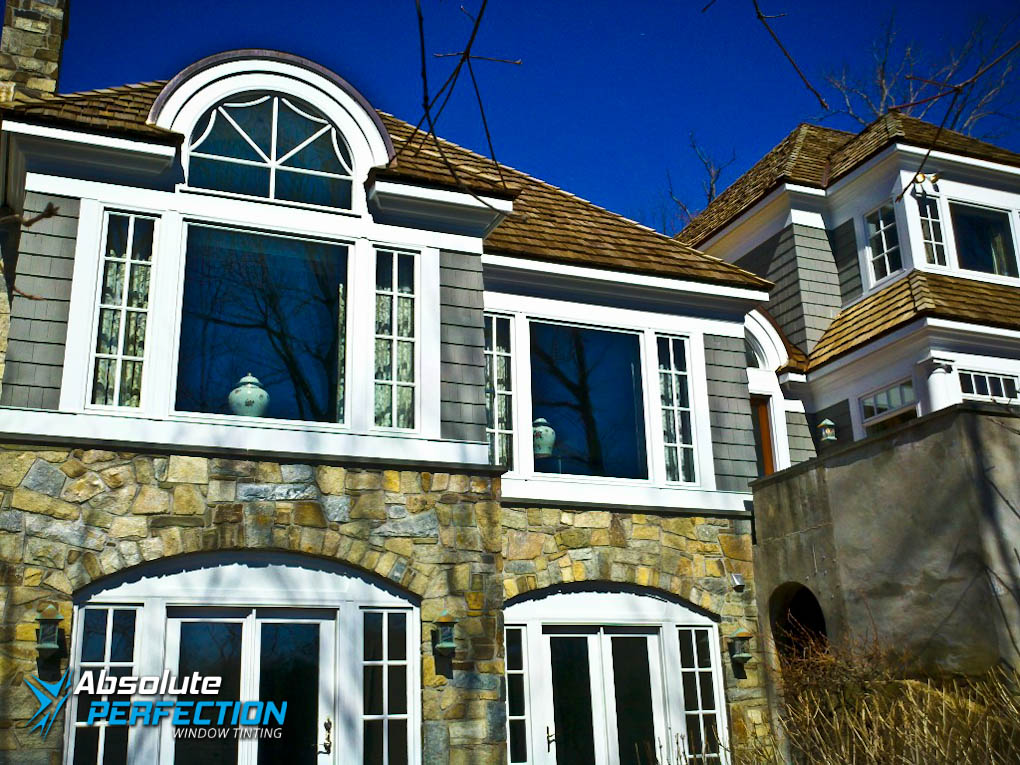 Outside Look Of Privacy Window Tint For Home By Absolute
