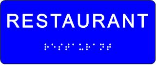 plăcuță tactilă restaurant