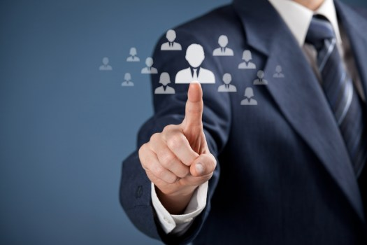 Employer selecting the right candidate with aptitude test