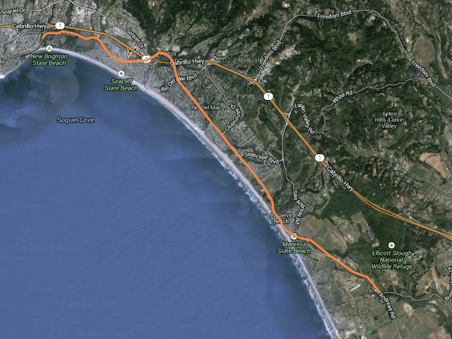 Aptos Rail Trail Map