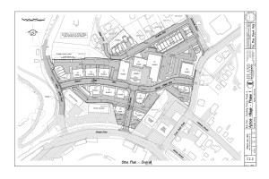 Aptos Village Site Map Phase 1, Courtesy Barry Swenson Builder
