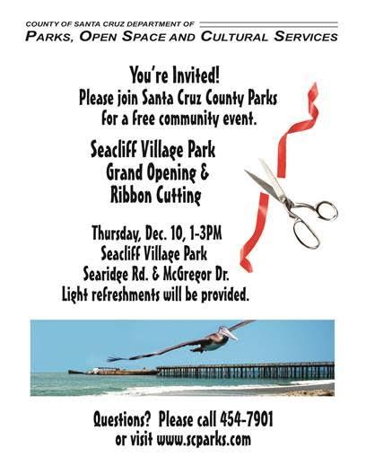 Seacliff Village Park Opening