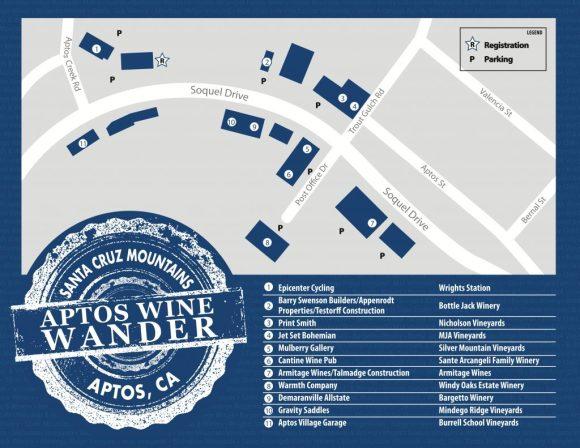 Aptos Wine Wander Tasting Map