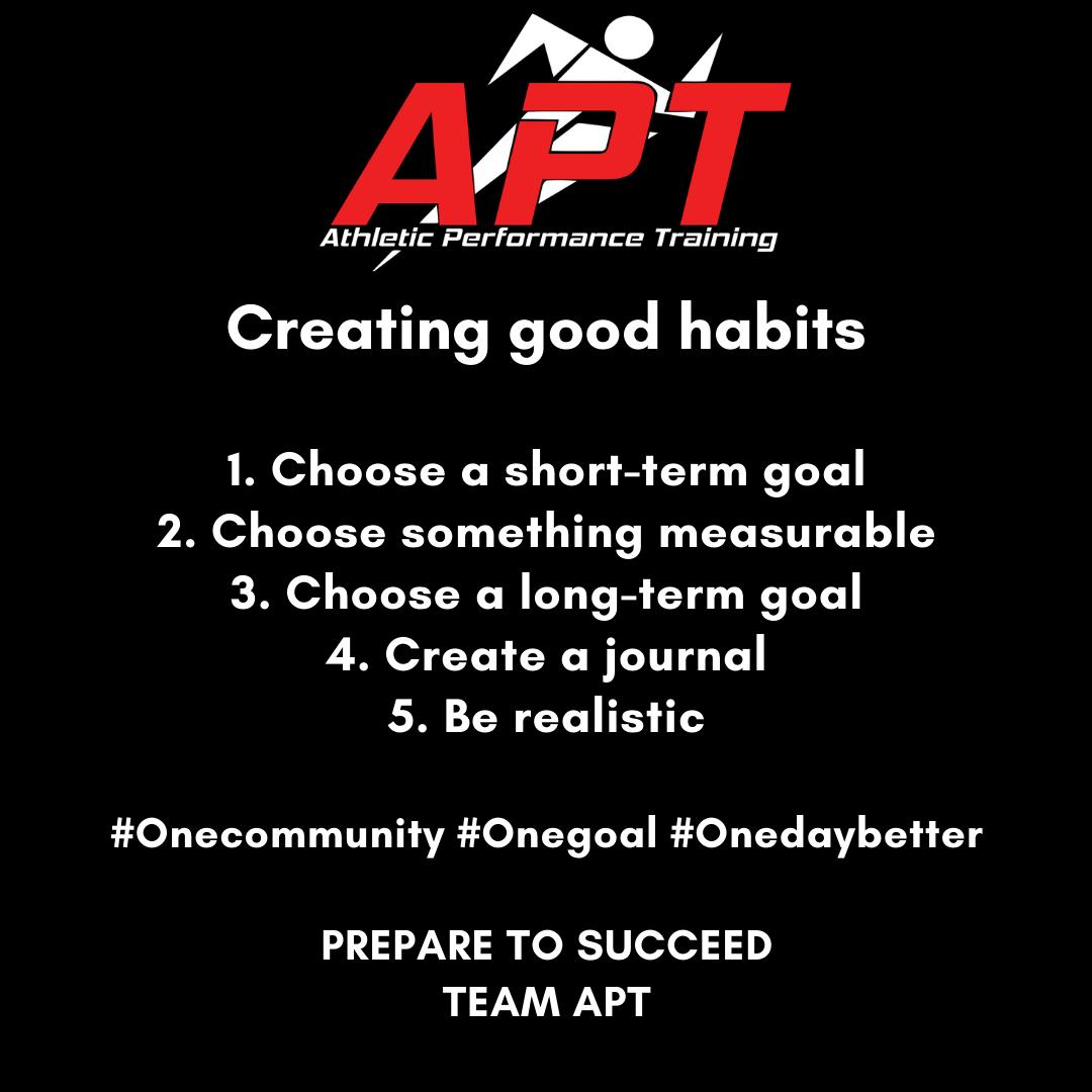Creating Good Habits Athletic Performance Training
