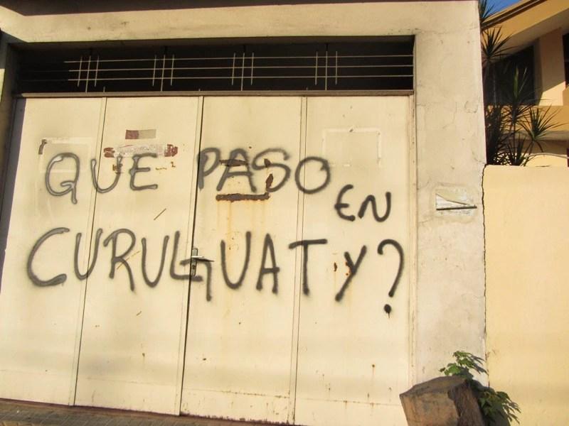 Pichação nas ruas de Assunção. Foto: Natalia Viana/Agência Pública