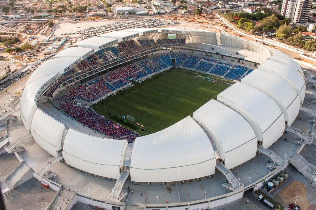 Apesar de não ter feito empréstimos com o BNDES, estima-se que o governo do RN chegará a pagar R$ 1,3 bilhão para a empresa que construiu e irá administrar a Arena das Dunas, já que foi firmada uma PPP. (Foto: Portal da Copa)