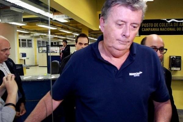 Ray Whelan na delegacia no Rio de Janeiro.Foto: Conexão Jornalismo