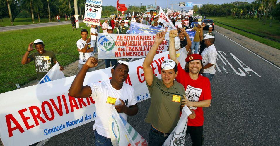 O protesto dos aeroviários foi impedido por uma liminar na Justiça