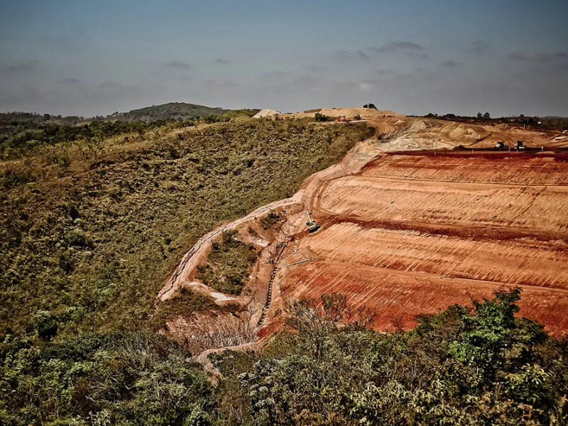 Mineração na cidade de Congonhas, em Minas Gerais