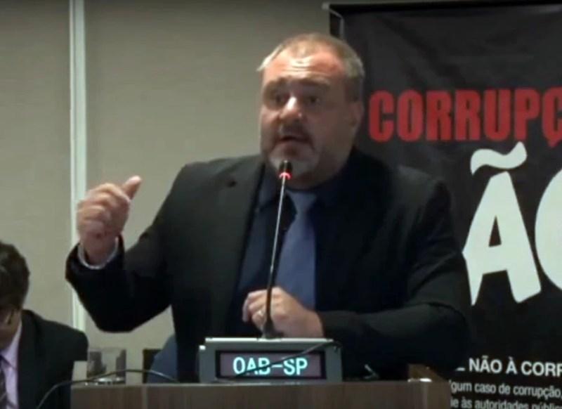 Guilherme Portanova, assessor jurídico da Confederação Brasileira dos Aposentados e Pensionistas do Brasil (Cobap), em evento na OAB.