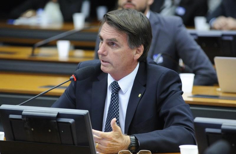O deputado Jair Bolsonaro (PSC-RJ), na Câmara dos Deputados.