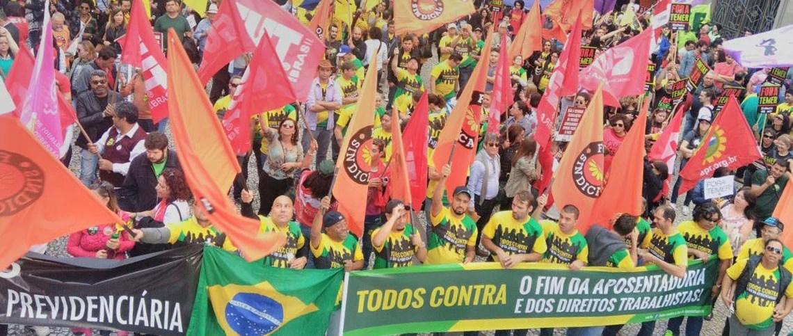 Centrais sindicais protestaram em todo o país contra as reformas trabalhista e previdenciária no dia 30 de junho