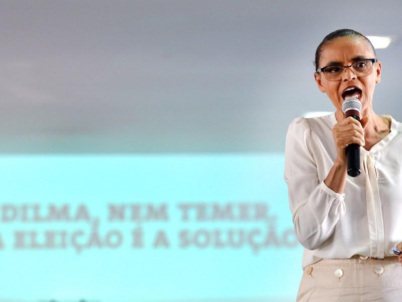 Marina Silva (Rede) lança a campanha Nem Dilma Nem Temer, em 2016