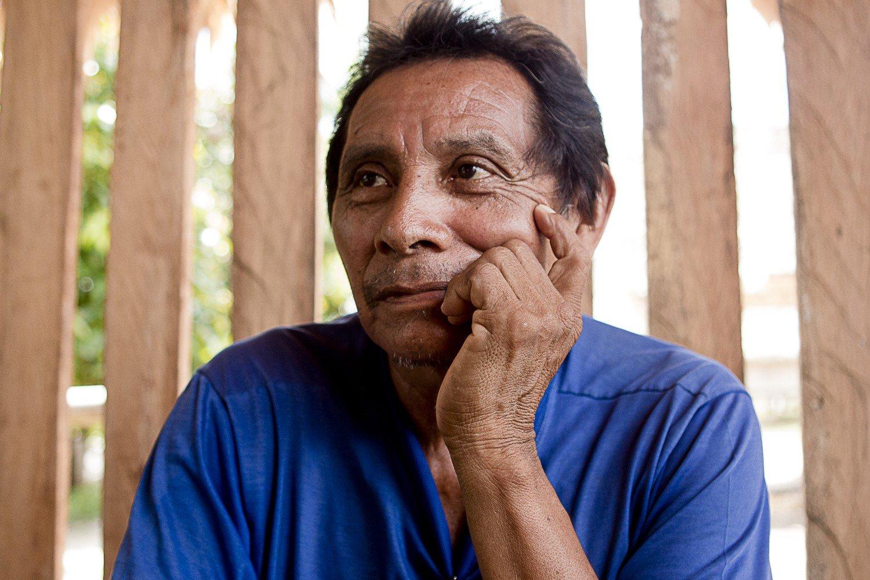 João do Vale, 63 anos, Katxuyana, removido para o Parque Tumucumaque em 1968 (Foto: Ana Mendes)