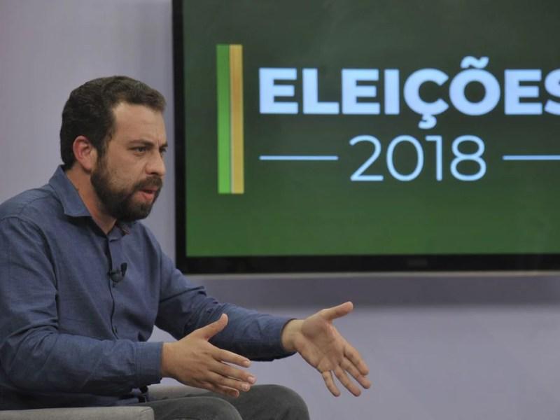 Boulos, em entrevista para a EBC: dado em plano de governo é impossível de provar