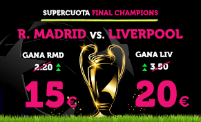 apuestas legales Supercuota Wanabet Final Champions R. Madrid vs Liverpool