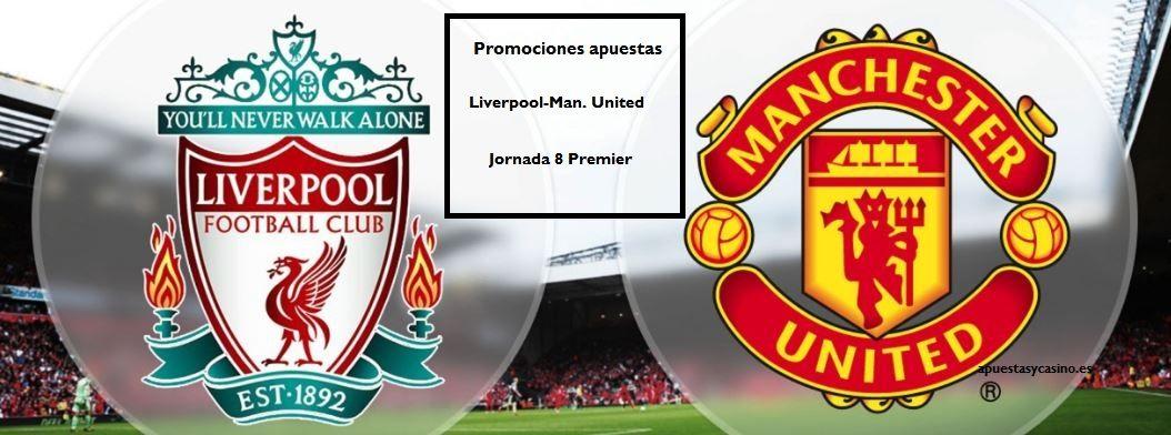 Liverpool-Manchester United: apuestas reembolsoPastón y Sportium nos permite apostar con menor riesgo al partidazo de la premier