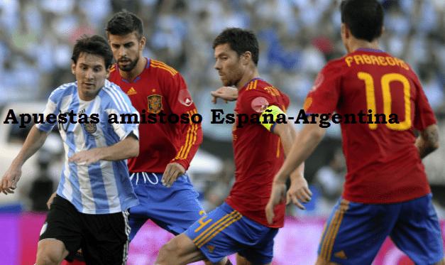 Apuestas España-Argentina: amistoso 2018