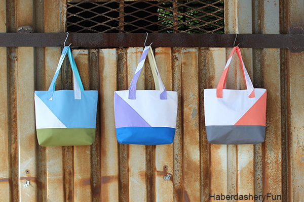 color block totes