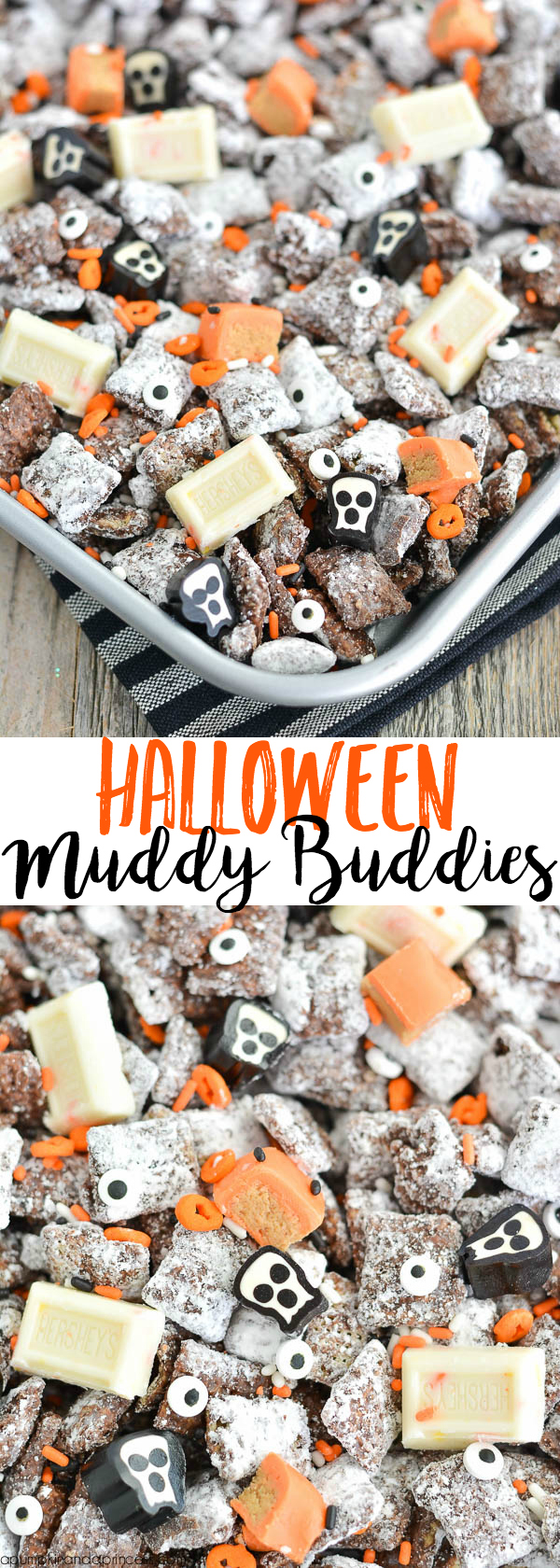 Halloween Muddy Buddies, by A Pumpkin & A Princess