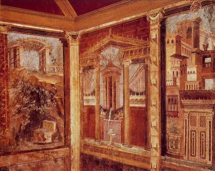 La pintura romana los cuatro estilos pompeyanos arte en for La casa de las pinturas