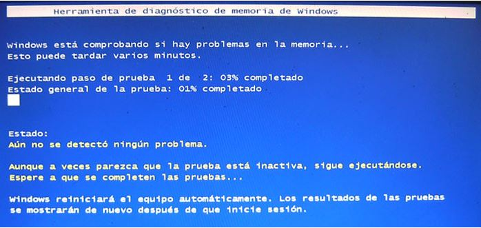 Diagnóstico de memoria de Windows 1