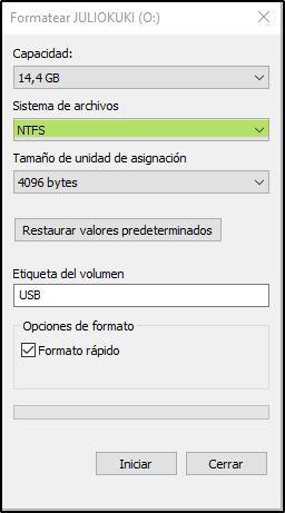 Tipos de archivos NTFS
