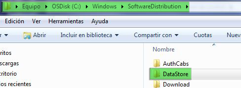 Actualizaciones de windows_Data store