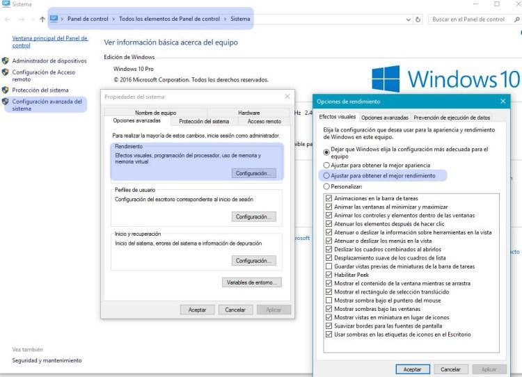 Cómo mejorar la velocidad de Windows 10