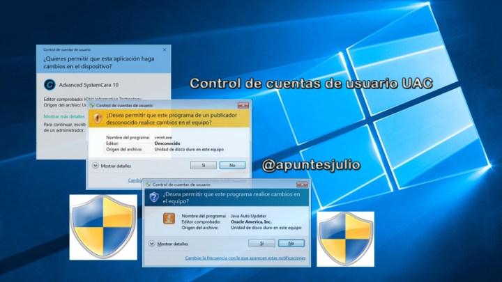Cómo activar desactivar el control de cuentas de usuario en Windows
