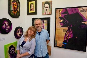 Nancy Arancibia y Bertrand Coustou. Galería Bahía Utópica.