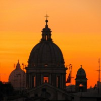 Atardecer en Roma