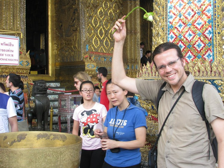 Hernán Castro en el Wat Phra Kaew