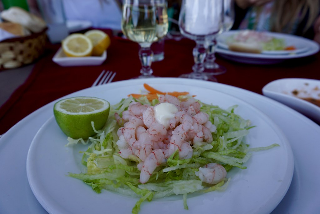 Ensalada de camarones en Restaurante El Rey II