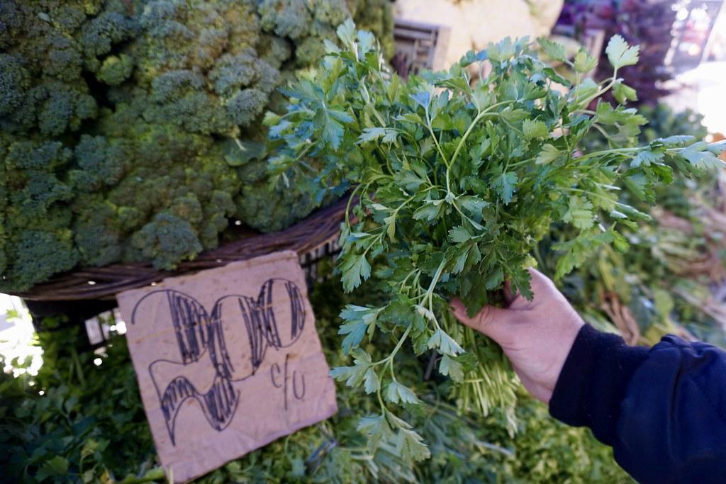 Comprando verduras en Jaime Astorga
