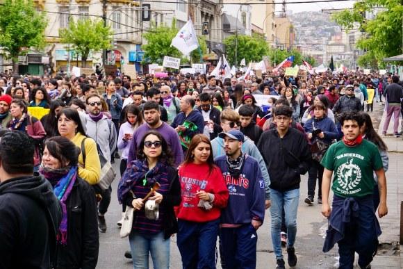Manifestación del 23 de octubre en avenida Pedro Montt