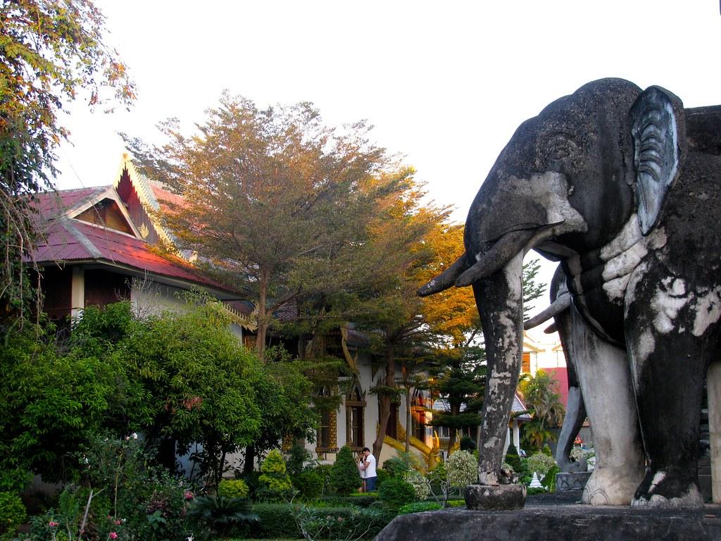 Jardines Wat Chiang Man