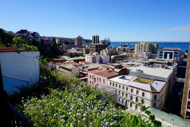 Vista a Valparaíso desde Terraza Lamar