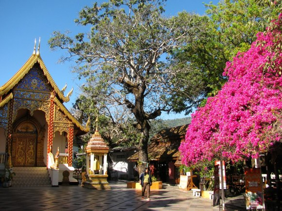 Patio en Wat Phra That Doi Suthep, Chiang Mai