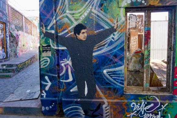 Victor Jara por Indaweed, pasaje Gálvez, cerro Concepción
