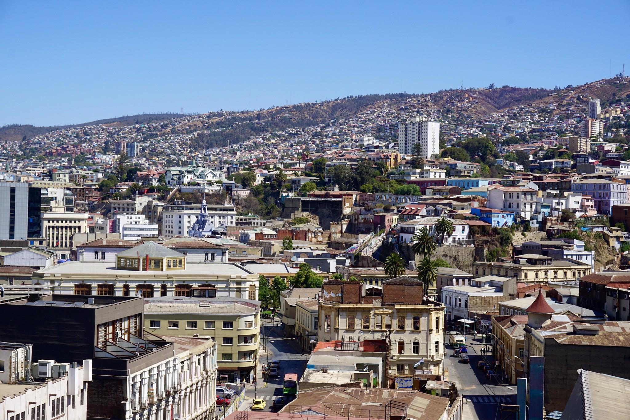 Vista a Valparaíso desde el Cerro Artillería