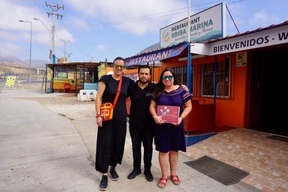 Paula Baez, José Ignacio Aguilera y Meyling Tang en Restaurant Brisa Marina en la actualidad