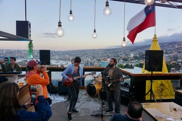 La Azotea Restobar, Playa Ancha. Valparaíso.
