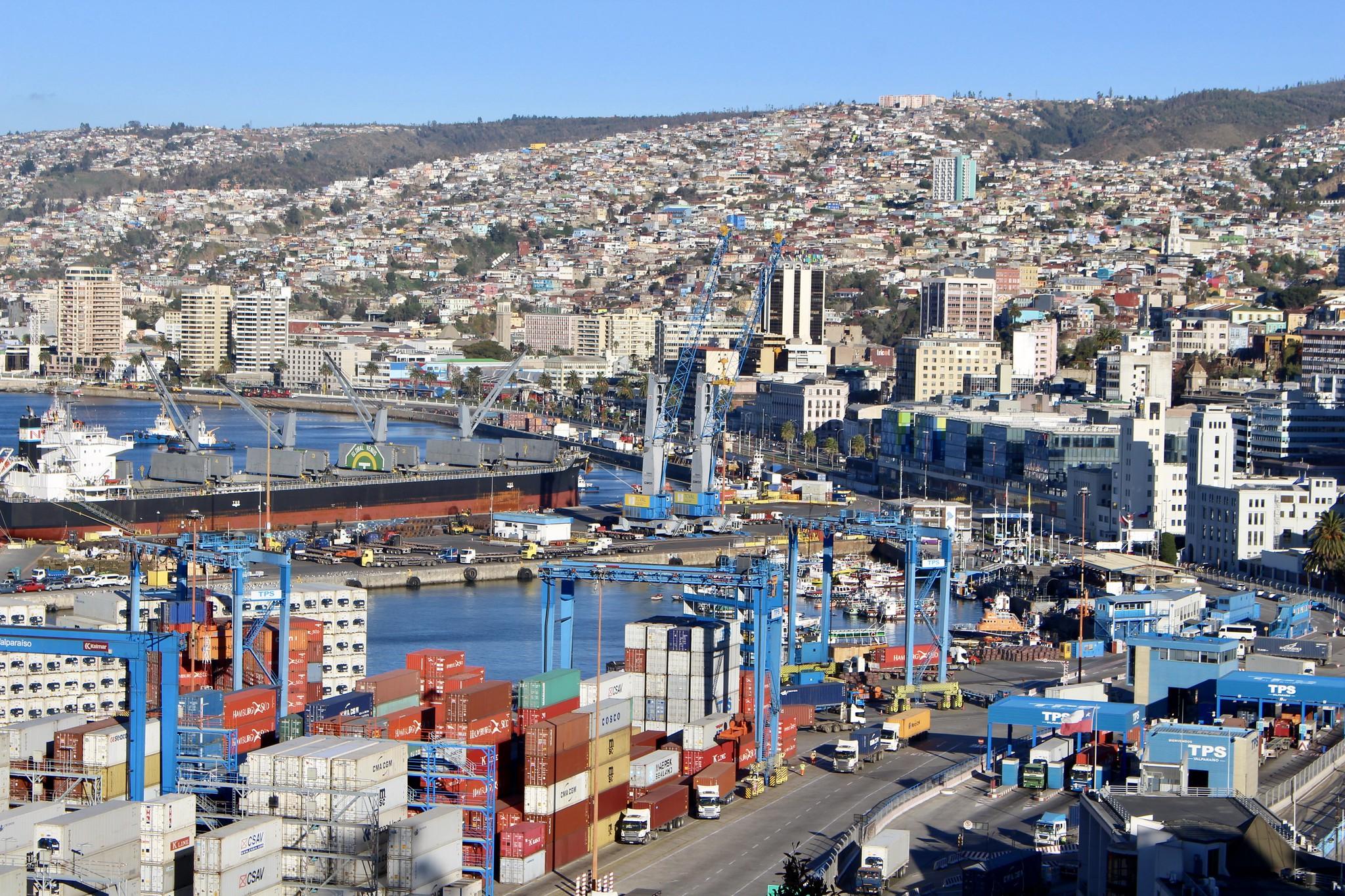 Valparaíso desde el Paseo 21 de Mayo