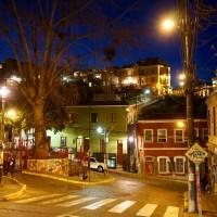 Fotos al anochecer en Valparaíso